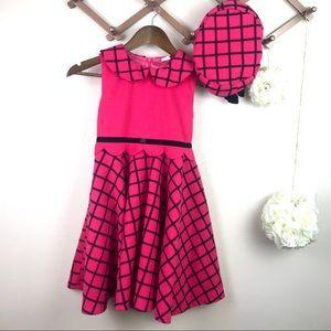 Kids Pink Geometric Dress